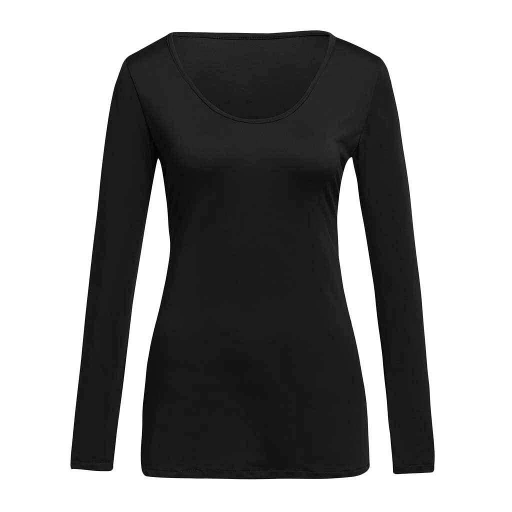 Rooper Blusas para Mujer Manga Larga Color S/ólido Casual Blusas para Mujer Espalda Abierta Moda Camiseta de Mujer Los Deportes
