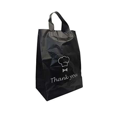 500x new flexi loop thank you printed carrier bags 10x14 6 strong