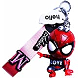 Keychain for Men Wristle Keychain Spider-Man for Kids Cute Love Gifts for Adult with Key Chain Holder Girl Gift for Birthday Christmas