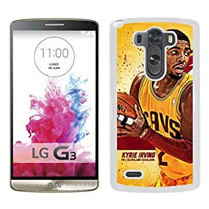 Diy Cleveland Cavaliers kyrie Irving 1 White Special Custom Made LG G3 Cover Case