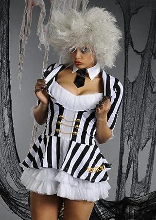 Delights Disfraz Beetlejuice de Halloween de Las señoras Adultas S ...