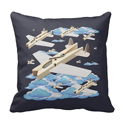 Oitoere Clothespin Airplanes 1818 pillow Case