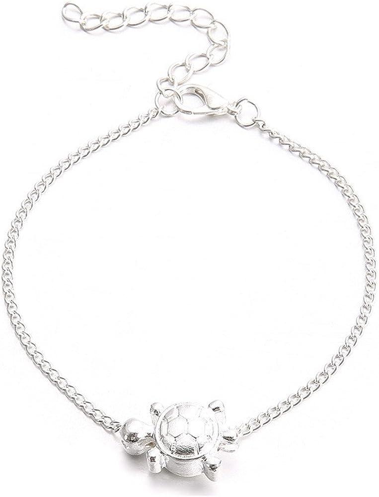 OldSch001 Ankle Bracelets for Women,Bells Pendant Anklet Bracelet Beach Foot Chain