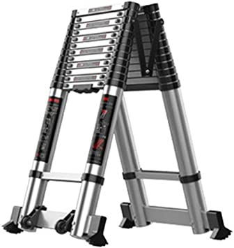ZCF Escaleras de mano Las Escaleras Telescópicas, con Amplias Pedal de Aluminio Plegable Escalera Portátil Estable Escaleras de Extensión Y Seguro para Ingeniería (Size : 4.7m): Amazon.es: Bricolaje y herramientas