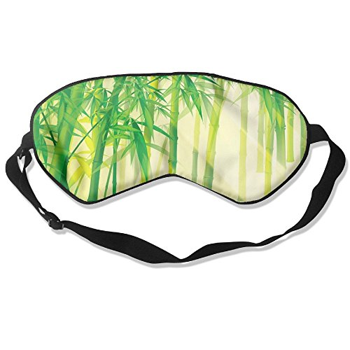 Comfortable Sleep Eyes Masks Green Bamboo Style Pattern Sleeping Mask For Travelling, Night Noon Nap, Mediation Or Yoga