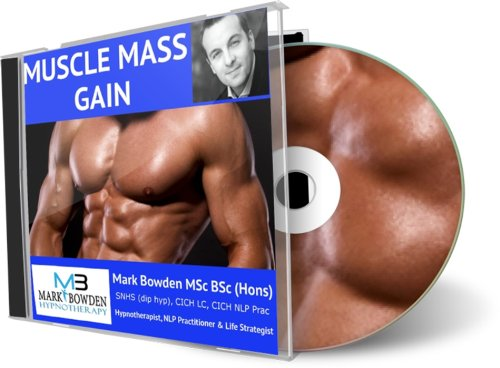 Muscle Mass Gain Hypnosis CD - Using hypnotherapy and the mind to build and increase muscle fast is being used more and more often in bodybuilding as it's reconsised as being such an effective tool. Find out for your self!