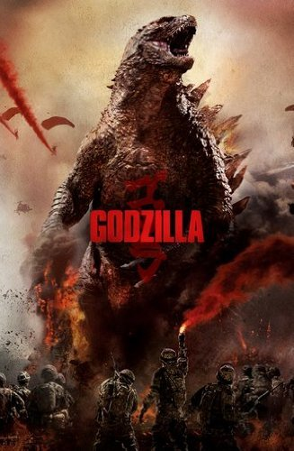 Poster of Godzilla 2014 Full Hindi Dual Audio Movie Download BluRay 720p