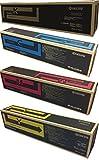 WCI© Best Value Pack® of All (4) Genuine Kyocera-Mita Brand TK-8507 Toner Cartridges + a FREE $25 Restaurant Gift Card. (1 each of KCMY) for: Kyocera-Mita TASKalfa 4550ci/4551ci/5550c/5551ci.