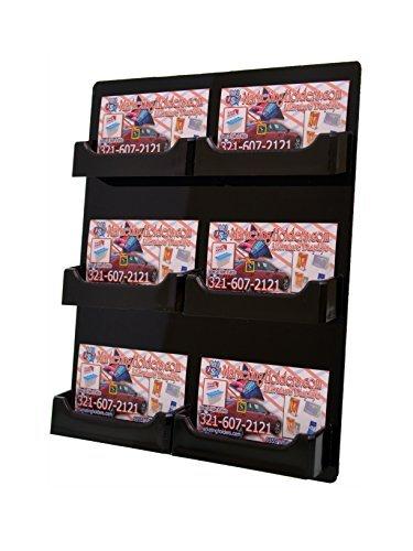 Amazon marketing holders black 6 pocket acrylic wall mount marketing holders black 6 pocket acrylic wall mount business card holder hanging rack pack of colourmoves