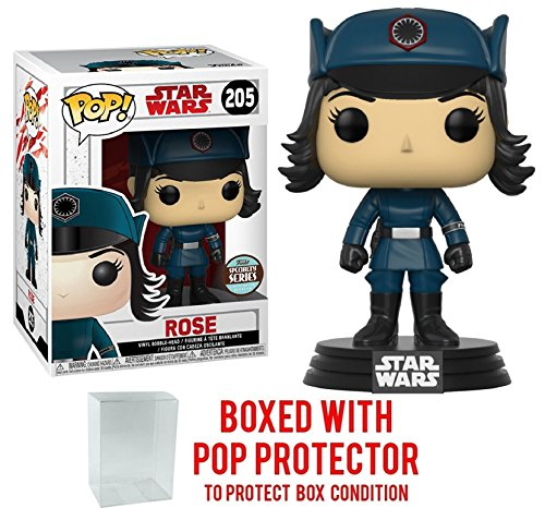 Funko Pop! Star Wars: The Last Jedi - Rose in Disguise Specialty Series #205 Vinyl Figure (Bundled with Pop BOX PROTECTOR CASE) -