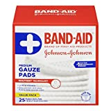 Band Aid gauze pads, medium 25 Count