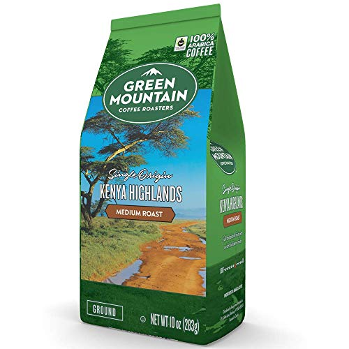 Green Mountain Coffee Roasters Kenya Highlands Ground Coffee, 10 ounce bag (Pack of 1)