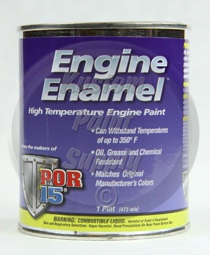 - 1 Pint - POR 15 - Ford Blue Engine Enamel EEPBC 42048