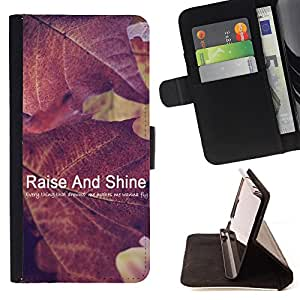 Jordan Colourful Shop - FOR Samsung Galaxy A3 - raise and shine - Leather Case Absorci¨®n cubierta de la caja de alto impacto