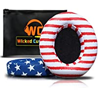 Beats Replacement Ear Pads By Wicked Cushions - Compatible with Studio 2.0 Wired/Wireless AND Studio 3 Over Ear Headphones by Dr. Dre ONLY (DOES NOT FIT SOLO) | Team USA