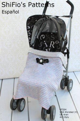 patrón para dos agujas - KP264 - Manta/cobija/frazada para cochecito o sillita de paseo