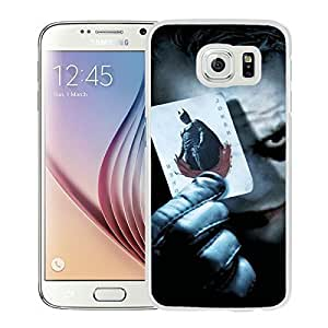 Joker White Samsung Galaxy S6 Screen Cover Case Genuine Design High Quality