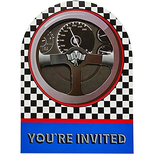 Creative Converting Racing Invitations -