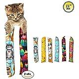 "11"" Catnip Kicker Toys - Set of 2 Cat Kickers"
