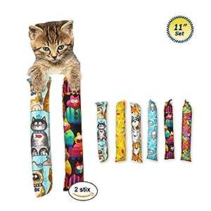 "11"" Catnip Kicker Toys - Set of 2 Cat Kickers 101"