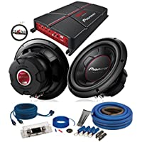 Pioneer GM-A5702 Amplifier with (2) TS-W256R 10 Subwoofers & 4Ga Amp Wiring Kit with a FREE SOTS Air Freshener