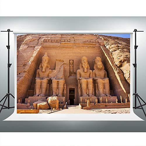 Egypt Pyramid Backdrop for Egyptian Themed Party 7x5ft Pharaoh Statue Background Global Travel Photo Booth Props ZYVV0555 ()