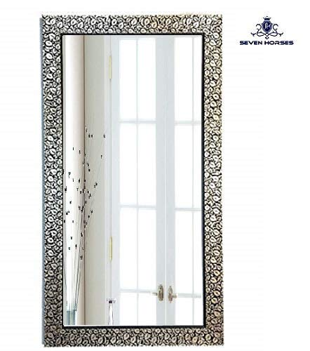 Seven Horses Floral Design Wall Mirror for Home Decoration