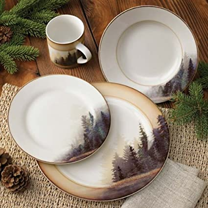 Amazon Com Misty Forest Dinnerware Set By Bob Metropulos Dinner