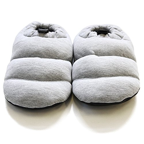 Roooms Womens Warm Living Room Shoes Fabric Gray TzlJXIo