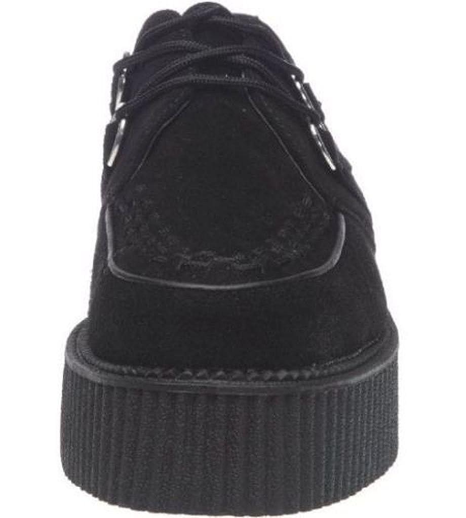 T.U.K. A7757 TUK Schuhe Schuhe Schuhe Größe 39 Creeper Mondo hohe Sohle Creepers schwarzem Wildleder-Schnürschuhe Bordell schwarz b45051