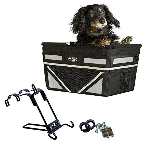 Pet-Pilot MAX dog bicycle basket carrier | 9 Color Options for your bike (SILVER)