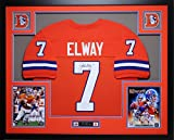 John Elway Autographed and Framed Orange Crush Broncos Jersey Auto JSA COA (Free Shipping!!)