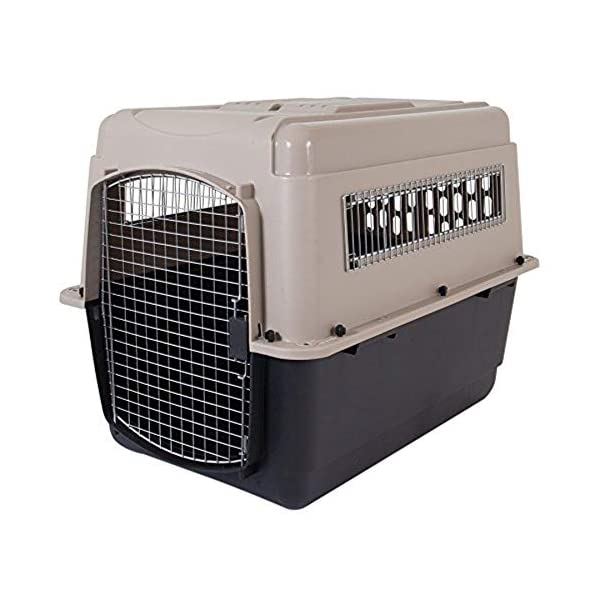Petmate Ultra Vari Dog Kennel, Heavy-Duty, No Tool Assembly, 4 Sizes, Taupe/Black