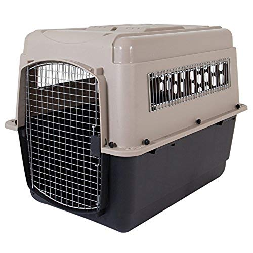 - Petmate Ultra Vari Dog Kennel, Heavy-Duty, No Tool Assembly, 4 Sizes, Taupe/Black