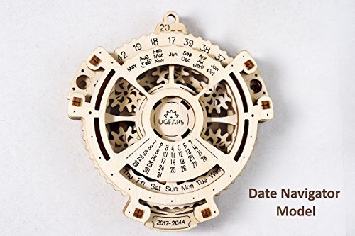 UGears Date Navigator Wooden Mechanical Model
