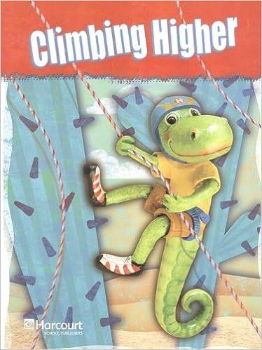 Storytown: Intervention Interactive Reader Grade 3 Climbing Higher