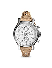 Fossil Women's ES3625 Analog Display Analog Quartz Beige Watch