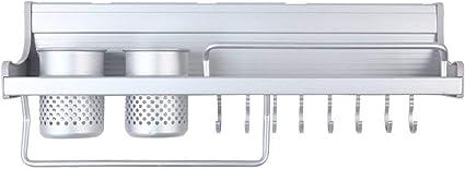 Etagere D Aluminium Murale Rangement Des Epices Couteaux Et Ustensiles De Cuisine 50cm De Long Amazon Fr Cuisine Maison