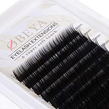 afb6aab15c6 D Curl Eyelash Extensions .10 Thickness 8-15mm Mixed Tray Soft Volume  Natural Silk Individual Lash Extensions for Salon Perfect Use by Obeya:  Amazon.ca: ...