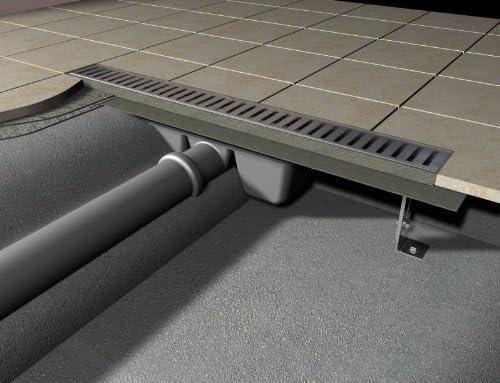 Canaleta de Ducha 1000mm Desagüe de Suelo / Desagüe / Canalón de Desagüe: Amazon.es: Bricolaje y herramientas