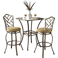 Hillsdale 4815PTBSHR3 3-Piece Hanover Height Bistro Set, 36', Brown
