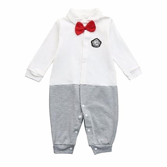 POLP Bebé Monos (◉ω◉ Recién Nacido Bebé Unisex Pajarita Monos Conjuntos para,Niño Niña 3-18meses Ropa Verano,Pijama Niños Mameluco Manga Larga Pantalones ...