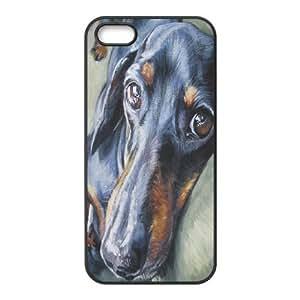 DIY High Quality Case for Iphone 5,5S, Cute Dog Dachshund Phone Case-693404 wangjiang maoyi