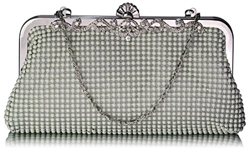 Ivory clutch Crystal Womens With Evening Pearl Beaded 1 Bag New Design Designer Style Purse Chain Handbag For TCCqwa