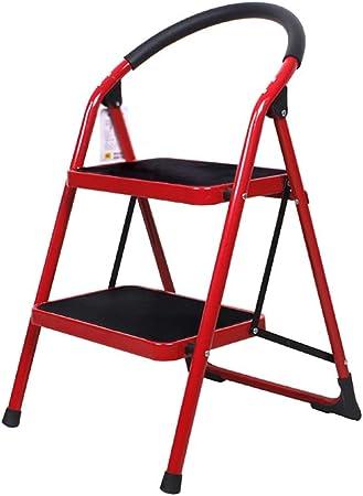 2 escalones 3 escalones Espesar escaleras Escaleras plegables para muebles Escaleras interiores Escalera Taburete pequeño Taburetes de hierro Ligeros (color: rojo, tamaño: 3 escalones) 3 escalones: Amazon.es: Hogar