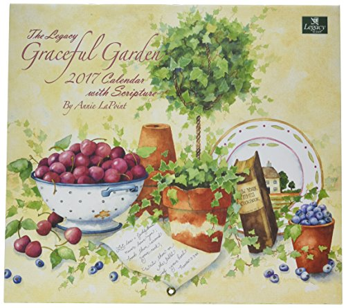 Legacy Publishing Group 2017 Wall Calendar, Graceful Garden