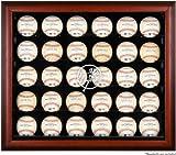 New York Yankees Framed 30-Ball Logo Display Case