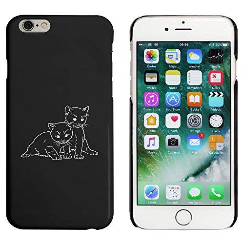 Schwarz 'Zwei Kätzchen' Hülle für iPhone 6 u. 6s (MC00051113)