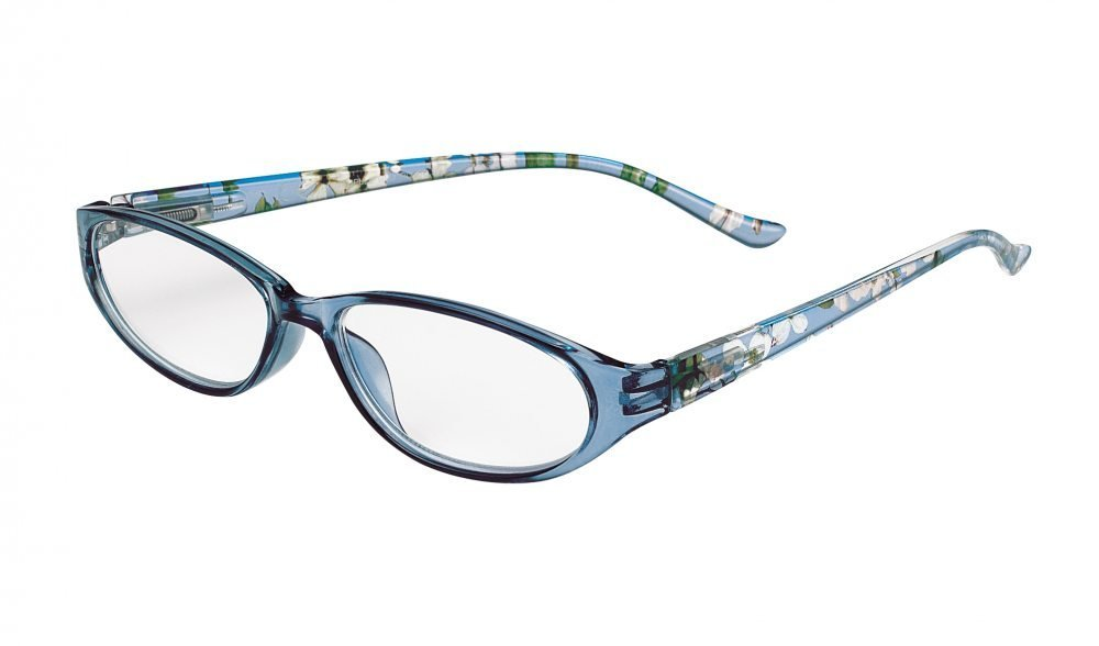c932601622e Amazon.com  SIGHT STATION ANNABELLE BLUE DOGWOOD FASHION READING GLASSES  +2.75  Health   Personal Care