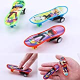 HsgbvictS Classic Toys Professional Finger Skateboard Educational Kids Gift Mini Plastic Board Toy Mini, Finger Toy, Kids Gift - Random Color
